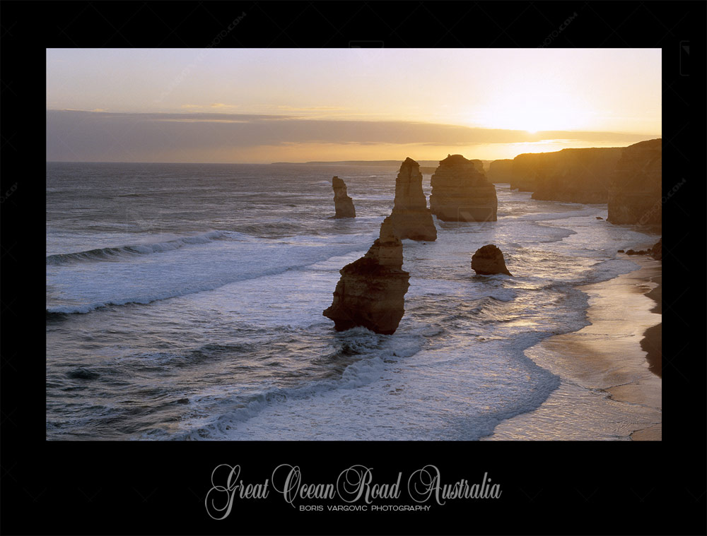 Magnificent sunset above Twelve Apostles Marine NP , Great Ocean Road in Australian state Victoria by fine art photographer Boris Vargovic